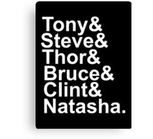 The Avengers (white text) Canvas Print