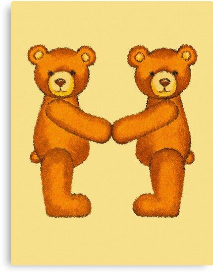 Teddy Bear Alphabet ~ Letter M ~ Initial by Paula Parker