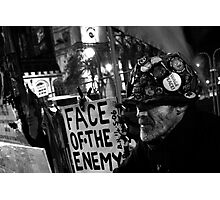 The Face Of The Enemy Photographic Print