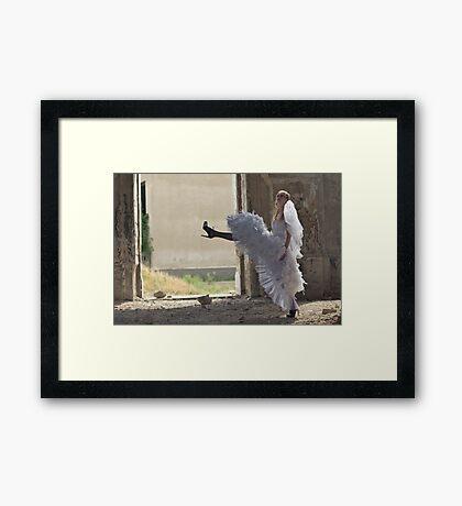 Marching Bride Framed Print