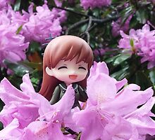 among the flowers by Irradiation