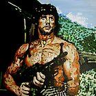 Rambo iconic piece by artist Debbie Boyle - db artstudio by Deborah Boyle