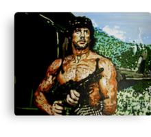 Rambo iconic piece by artist Debbie Boyle - db artstudio Canvas Print