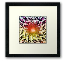 Melting ice, the winds of tommorow. Framed Print