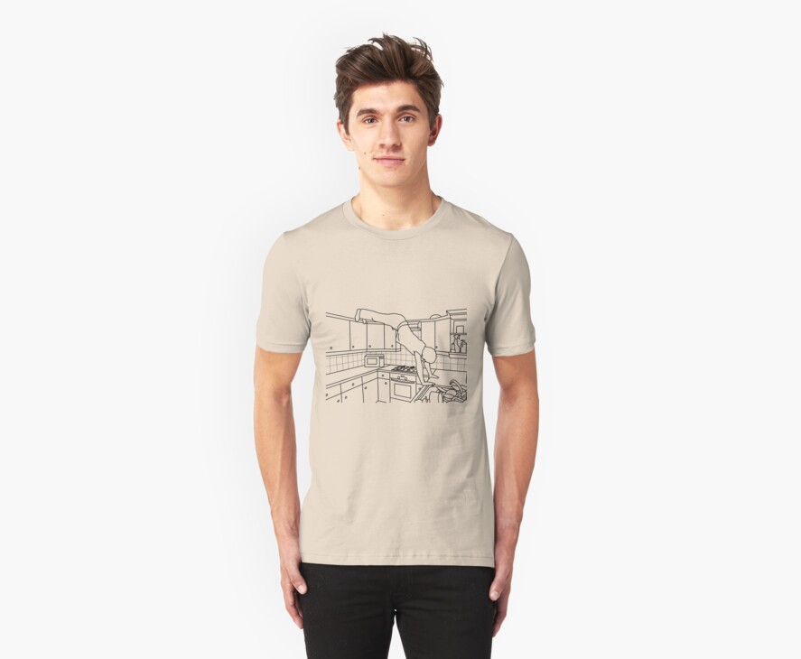 Elevated Dog Stretch T-shirt by James R Ford