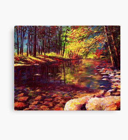 Summer Yosemite River Canvas Print