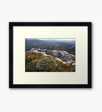 View from Frenchmans Cap, Franklin-Gordon Wild Rivers National Park, Tasmania Framed Print