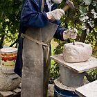 Stone Sculptor, Valdobbiadene, Italy by Andrew Jones