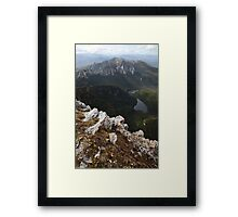 Frenchmans Cap Summit View, Franklin-Gordon Wild Rivers National Park, Tasmania, Australia Framed Print