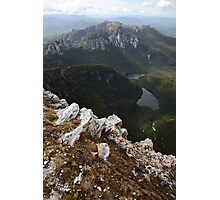 Frenchmans Cap Summit View, Franklin-Gordon Wild Rivers National Park, Tasmania, Australia Photographic Print