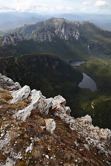 Frenchmans Cap Summit View, Franklin-Gordon Wild Rivers National Park, Tasmania, Australia by Michael Boniwell