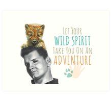 Wild Spirit: Wild Bill and Baby Wolf Art Print