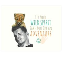 Wild Spirit: Wild Bill and Baby Wolf Art Print