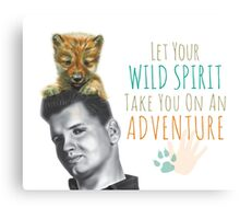 Wild Spirit: Wild Bill and Baby Wolf Canvas Print