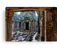 Inside the Temple Canvas Print