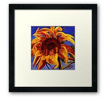 Sunflower Against the Blue Sky Framed Print