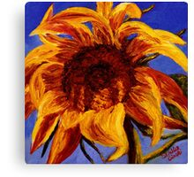 Sunflower Against the Blue Sky Canvas Print