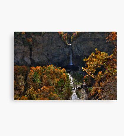 New York's Taughannock falls III HDR Canvas Print