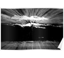 Cloud Burst - East Coast Sunset Poster