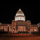 Little Rock State Capital - Holiday Lights by jkoncepz