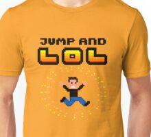 Jump and LOL - 8bit pixel arcade madness Unisex T-Shirt