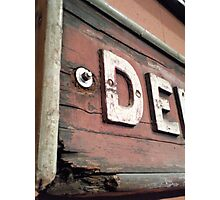 Old Railway Signage Photographic Print