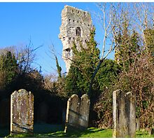 Old gravestones and ruins Photographic Print