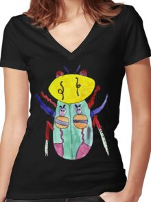 Lili Bug Women's Fitted V-Neck T-Shirt