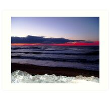 Sunset-Margaree Harbour Art Print