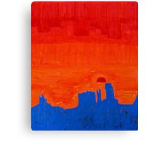 Monument Valley original painting Canvas Print