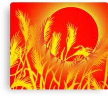 Sun Wheat Canvas Print