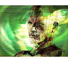Digital man in cyberspace Photographic Print