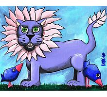 Lavender Lion Photographic Print