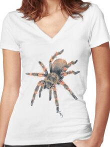 Mexican Red Knee Tarantula Tee Women's Fitted V-Neck T-Shirt