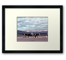 Never Say Die Framed Print