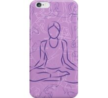 Violet Yoga iPhone Case/Skin