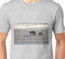 Silver Glow. Polar Bears at Sundown, Churchill, Canada  Unisex T-Shirt