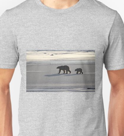Silver Glow. Polar Bears at Sundown, Churchill, Canada  Unisex T-Shirt
