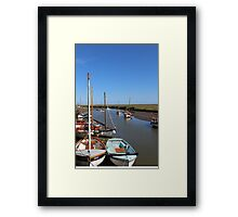 Blakeney Point Boats Moared Framed Print