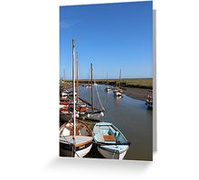 Blakeney Point Boats Moared Greeting Card