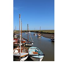 Blakeney Point Boats Moared Photographic Print