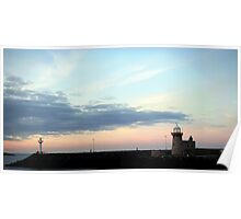 Sunset in Howth Lighthouse Poster