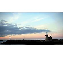 Sunset in Howth Lighthouse Photographic Print