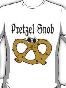"""Funny Pretzel """"Pretzel Snob"""" Pretzels T-Shirt"""