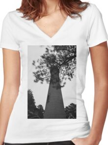 Currituck Lighthouse 2 Women's Fitted V-Neck T-Shirt