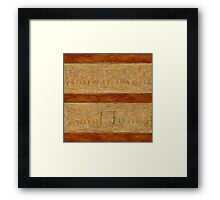 Williams Creek Stockyard Framed Print