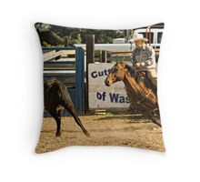 The Working Girl Throw Pillow
