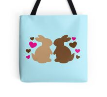 Chocolate bunnies in love Tote Bag