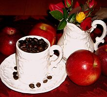Roses. Apples, Coffee by debbiedoda