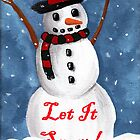 Simon the Snowman let it snow by Kayleigh Walmsley